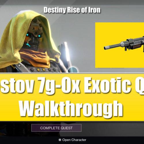 Destiny Rise of Iron Khvostov exotic weapon quest