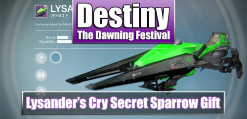 lysander's cry secret sparrow