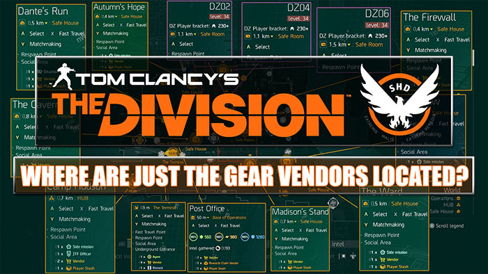 The division all gear vendor locations are you gaming malvernweather Choice Image