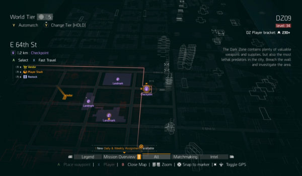 New Dark Zone Vendors DZ09 East 64th