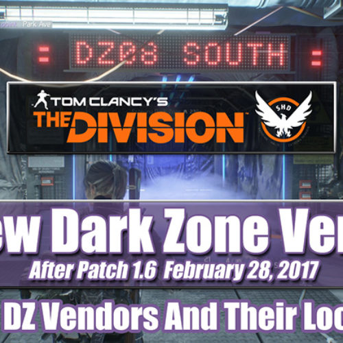 New Dark Zone Vendors