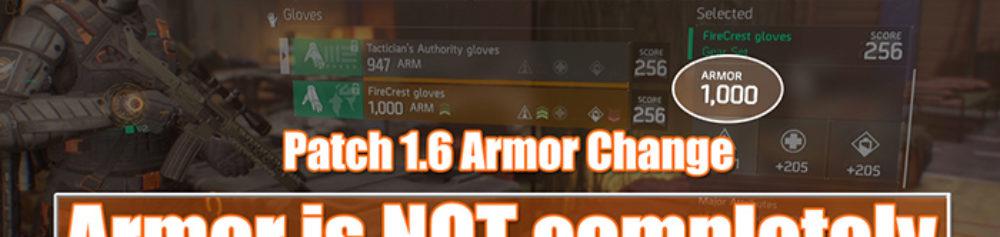 Division 1.6 Armor Change