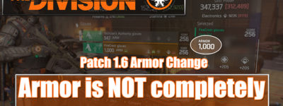 Division 1.6 Armor Change