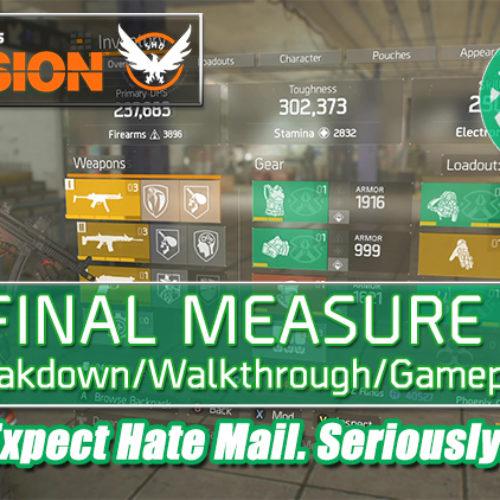 Division 1.6.1 Final Measure Build