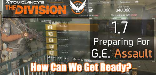 Division 1.7 Global Event ASSAULT Preparation