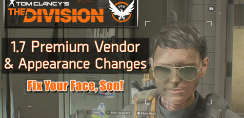 Division 1.7 update premium vendor and appearance changes