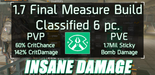 Division 1.7 Classified Final Measure Build