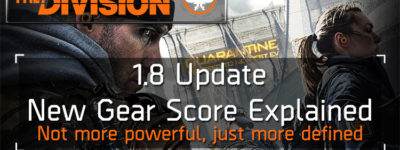 Division 1.8 update new gear score