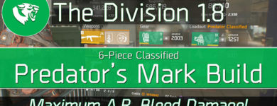 Division 1.8 Classified Predator's Mark Build