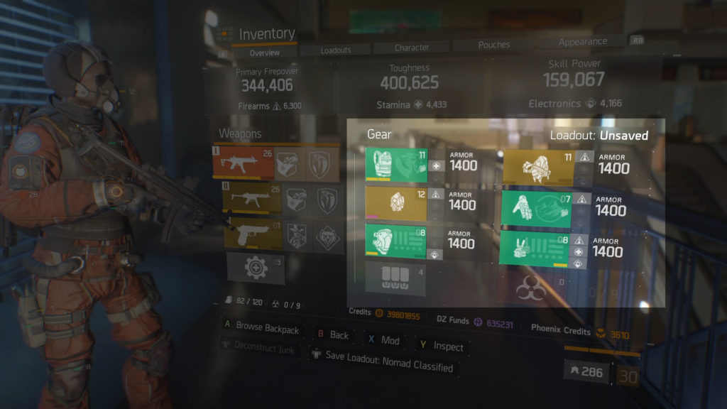 The Division 1.8 Max Armor Breakdown PVP Mode