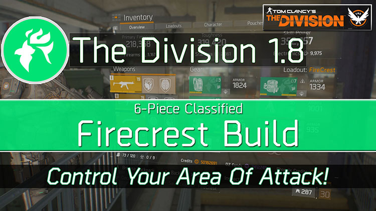 The Division 1 8 Classified Firecrest Build Are You Gaming