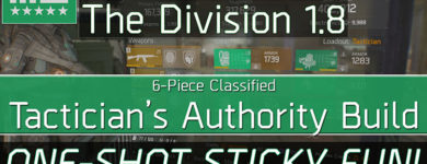 Division 1.8 Classified Tactician's Authority Build